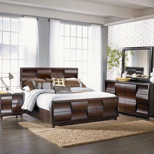 Black Cherry Bedroom Set | Contemporary Queen Bedroom Set ...