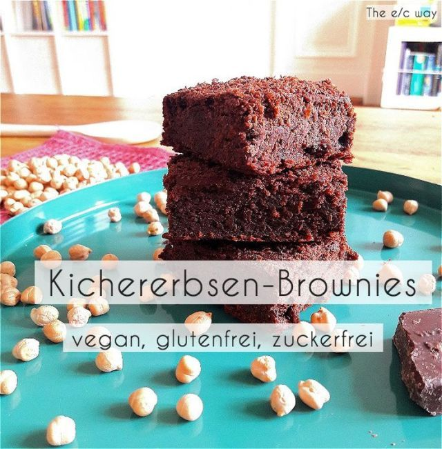 Gluten-free and vegan chocolate brownies // The e / c way recipe - your fitness blog, #brownies #cho...