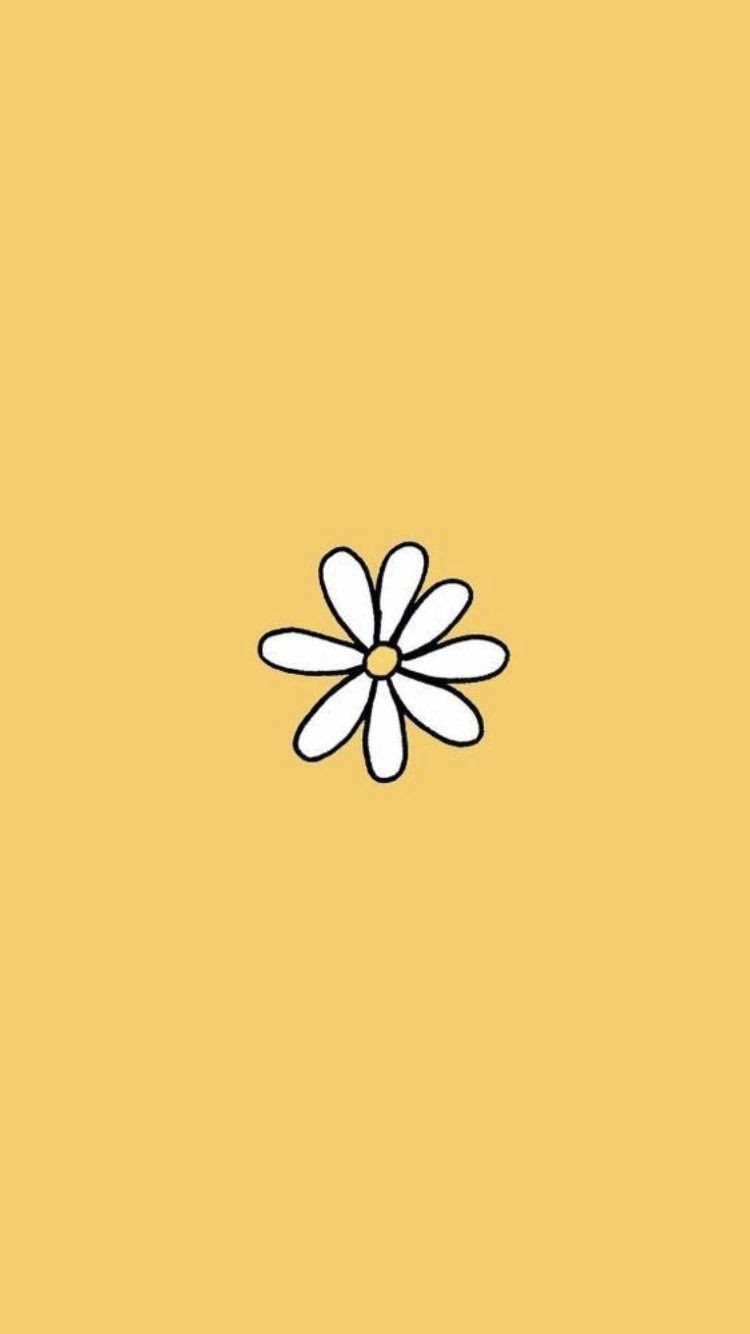 Aesthetic Flower Yellow Daisy Background Wallpaper Quotes