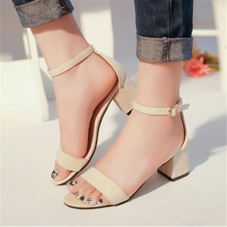 Women Summer Open Toe Sandals Size37Gray Women Summer Open Toe Sandals Size37Gray