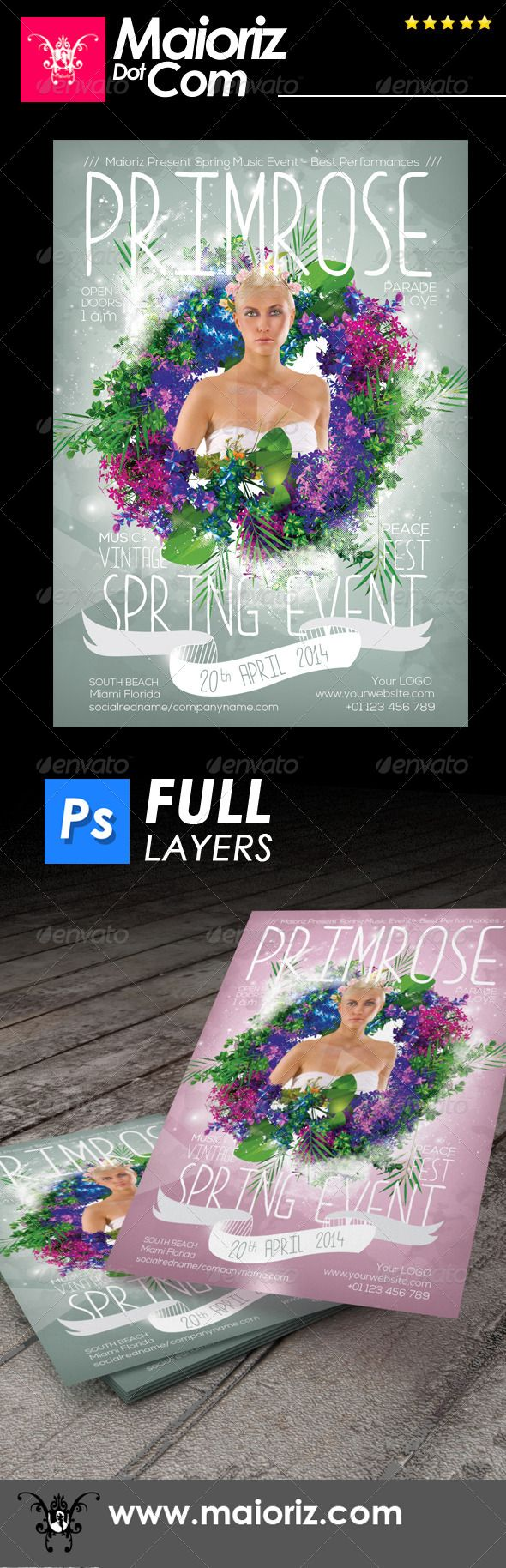 Spring Event Flyer Event Flyers Spring And Edit Text