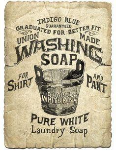 Free Printable Vintage Laundry Labels