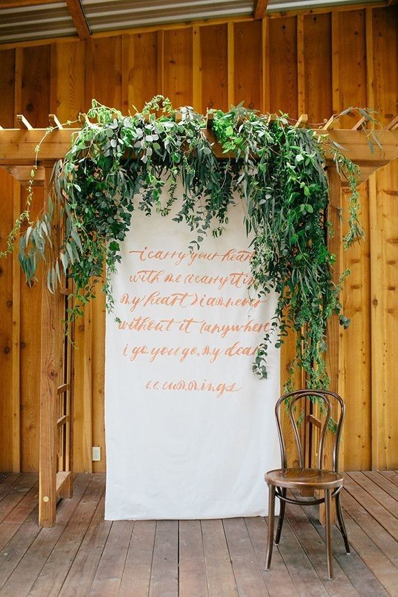16 Wedding Backdrop Ideas With Greenery Backdrops