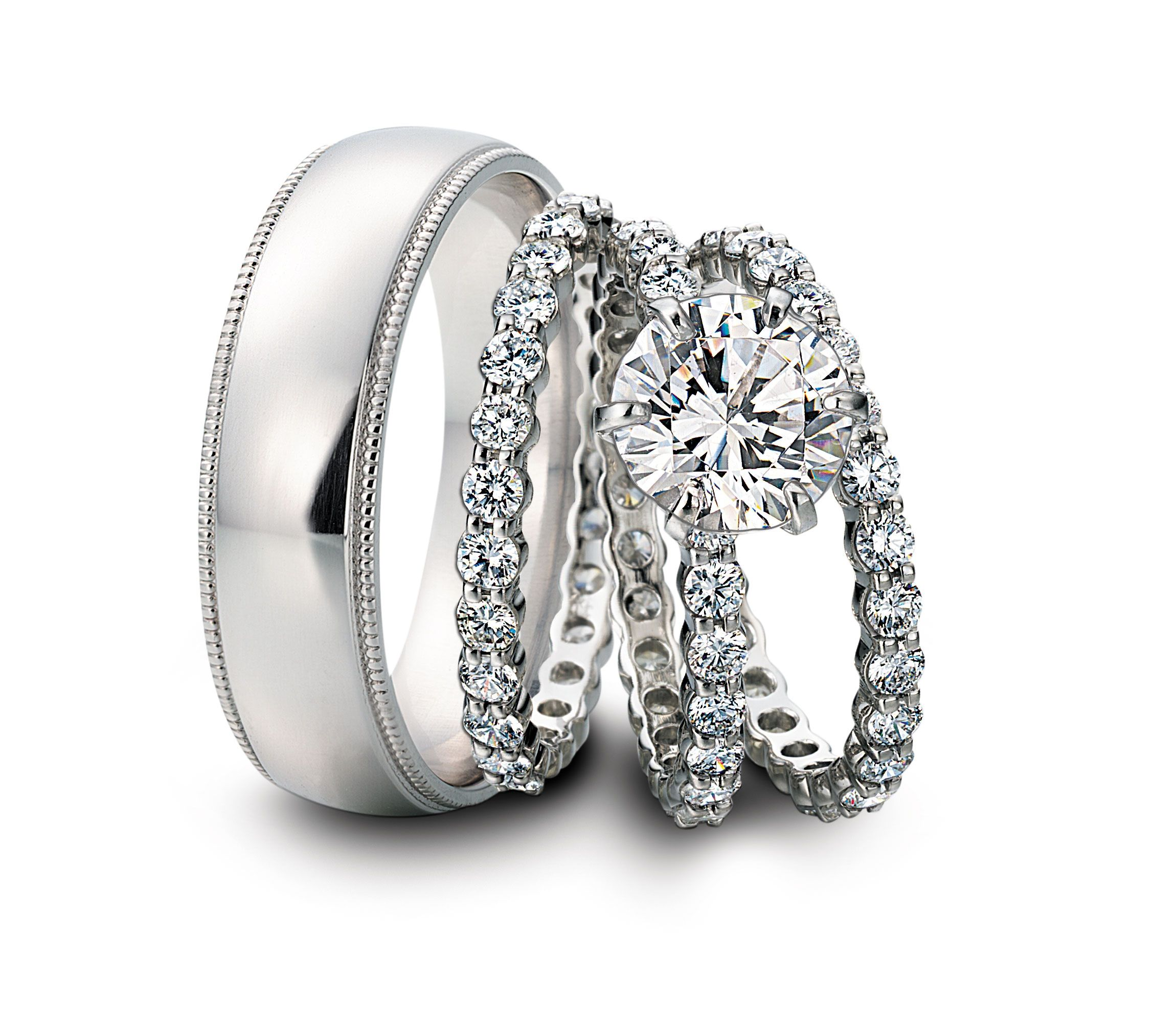 Beautiful His And Hers Matching Wedding Ring Sets Cheap