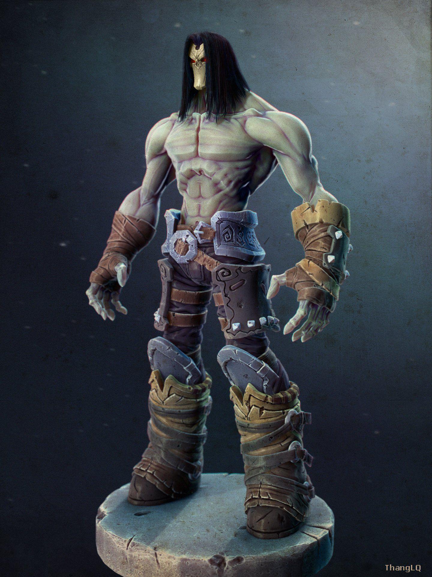 Death Darksiders 2 3d Model Monster Max C4d Obj 3ds