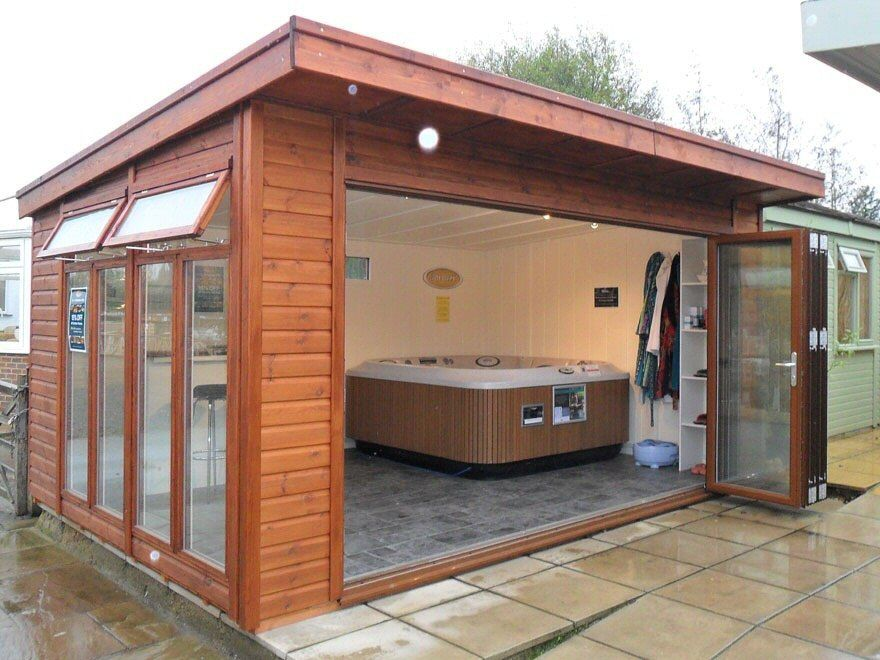 hot tubs are great places to relax and with the bespoke wooden hot tub sheds that bakers timber. Black Bedroom Furniture Sets. Home Design Ideas