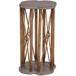 Gold Sculpted Accent Table