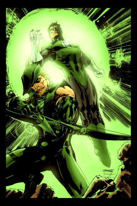 Jim Lee's Green Arrow and Green Lantern