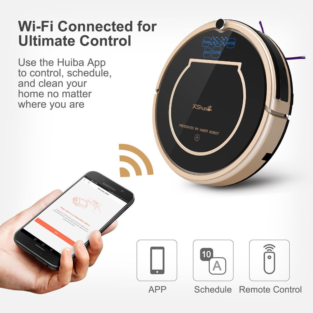 Haier xshuai robotic vacuum smart cleaner alexa voice