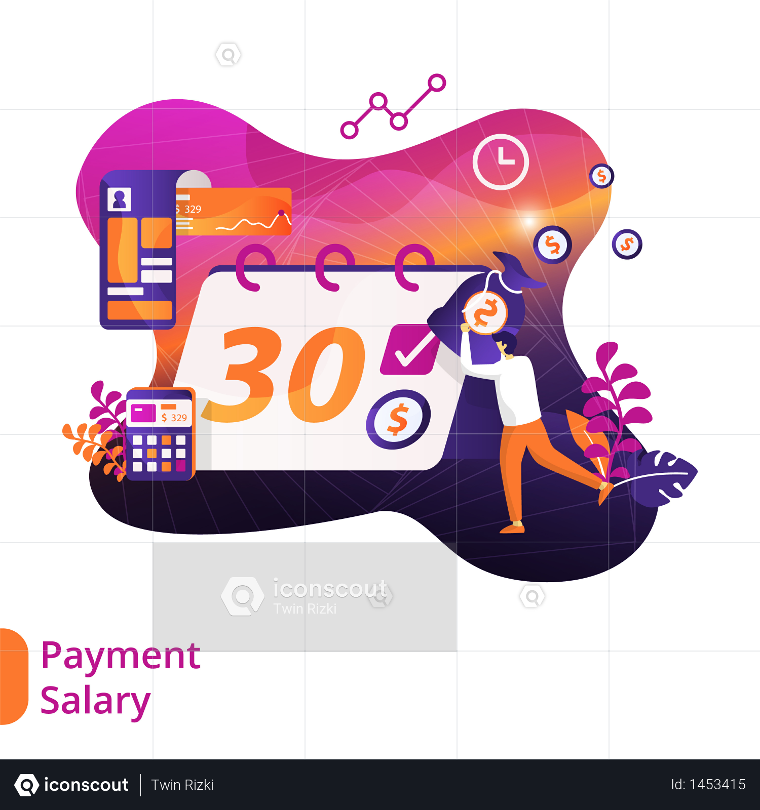 Premium Salary day Illustration download in PNG & Vector