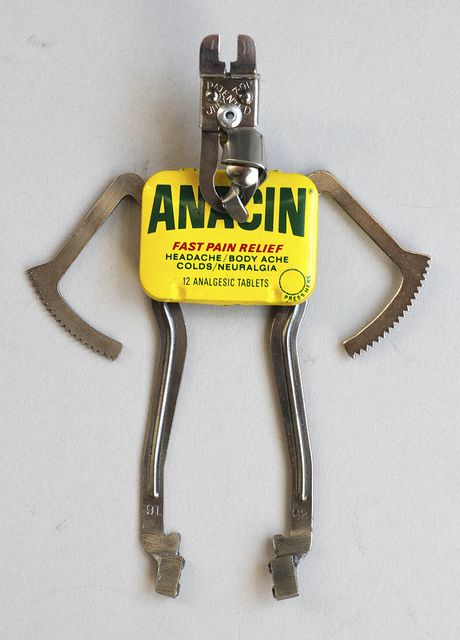 anacin - found object robot assemblage sculpture by brian marshall by adopt-a-bot, via Flickr