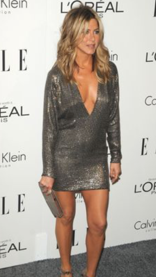 Jennifer Aniston Spaghetti Straps Evening Dress S21st Annual Critics Choice Awards TCD6523