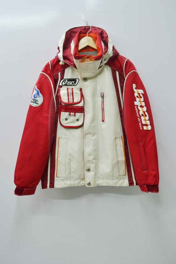 6bc8c02b46 Asics Japan Windbreaker Men Size M Vintage Asics Japan Ski Team Jacket  Japan Asics Vintage National