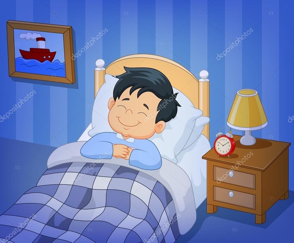 Dormir En Cama Images Dibujos Animados Sonrisa Nino Dormir En La Cama Desenho De Crianca Cartoon Cartoon Imagem Crianca