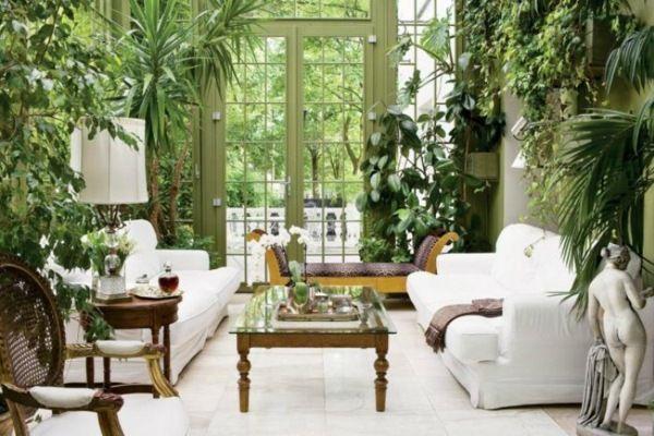 Wintergarten einrichten grüne Pflanzen klassisch | Wintergärten ...