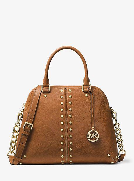 2076f59a8a68 Astor Large Studded Leather Satchel