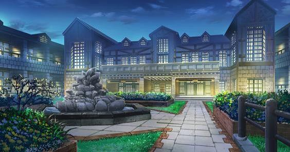 Anime Scenery Building Mansion Anime High School Pics Anime