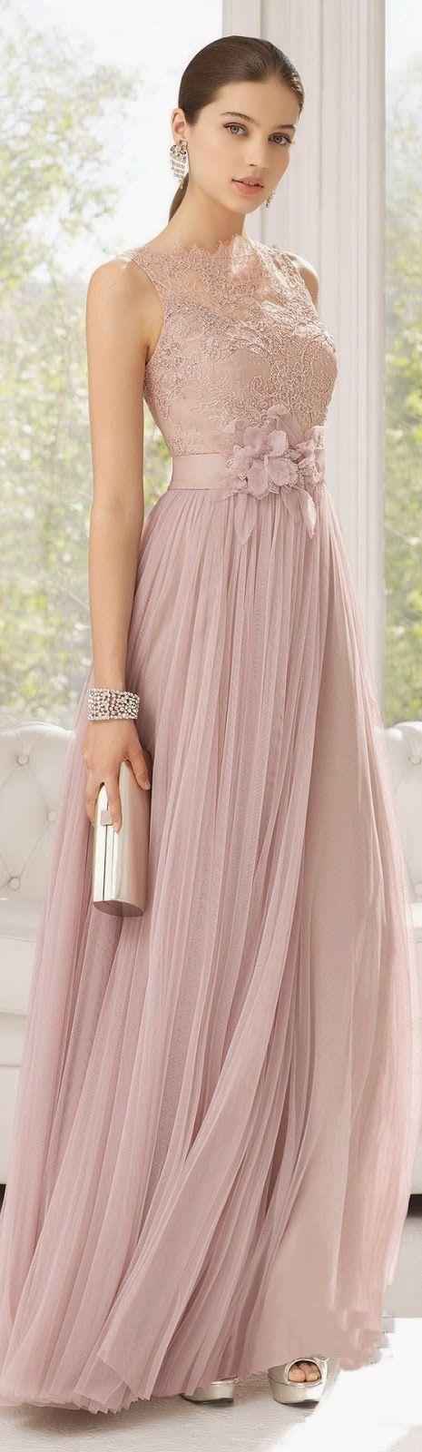 Kleid / Rosé / zart / Spitze / schön | Kleider | Pinterest ...