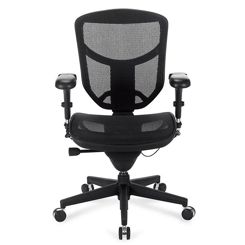 WorkPro® Quantum 9000 Series Ergonomic Mesh Mid-Back Chair, Black ...