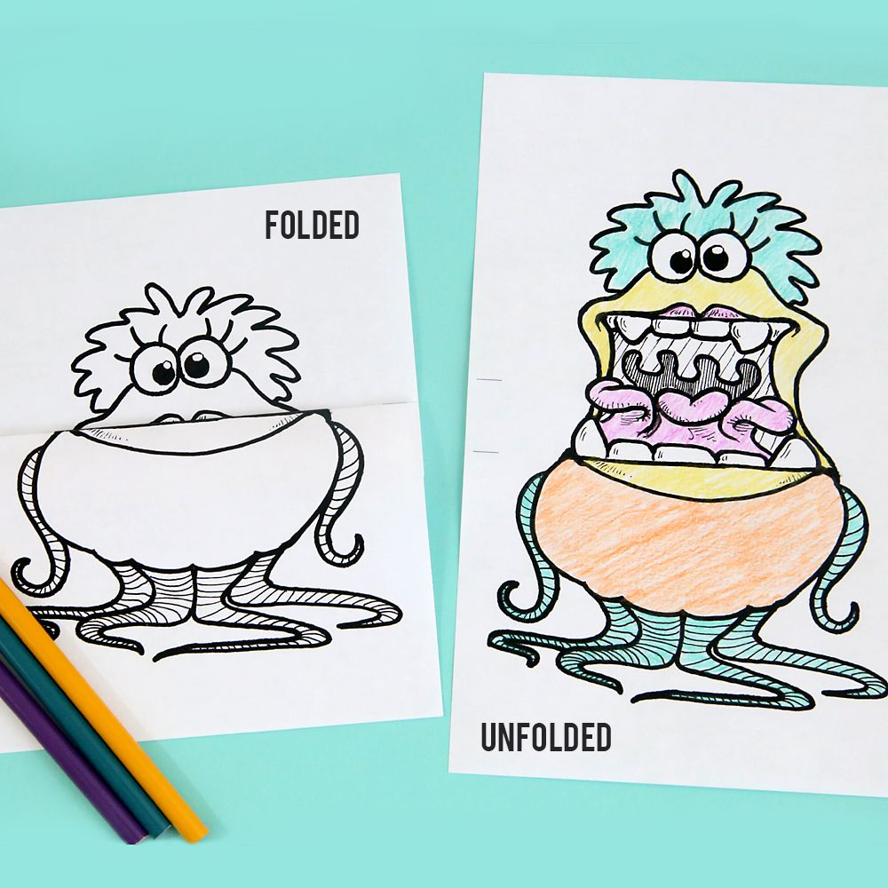printable big mouth monster coloring pages | kids crafts | Pinterest ...