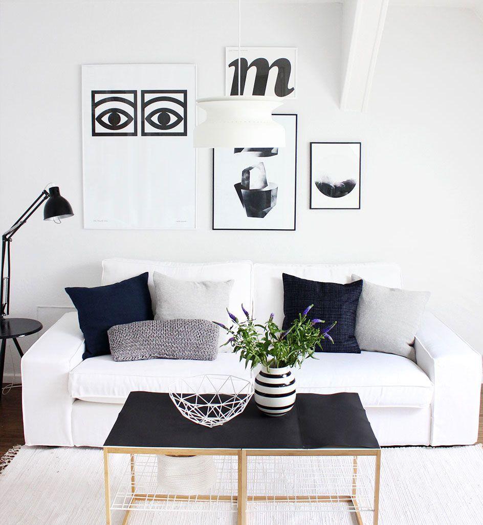 Captivating So Leb Ich Blogger Karynasu0027 Minimalistic Summer Transformation | IKEA Kivik  Sofa With A Bemz
