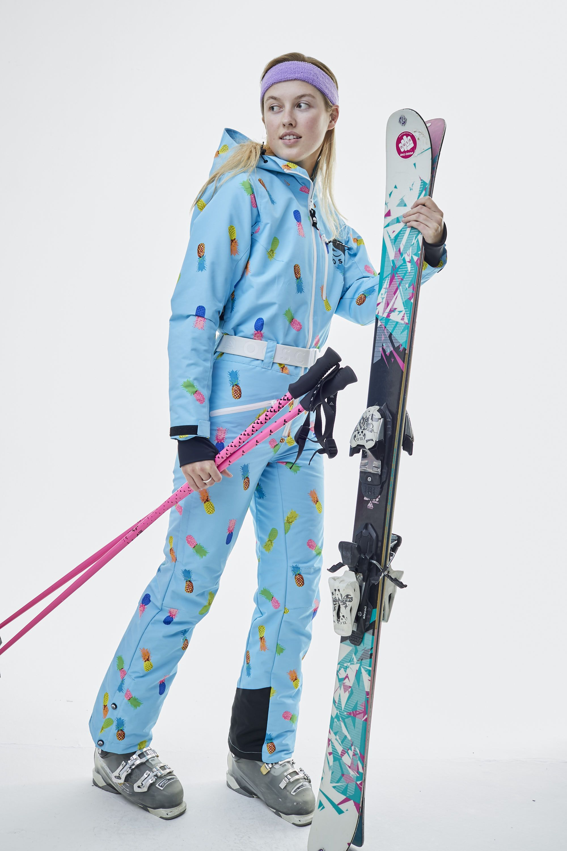 Club Tropicana Women S One Piece Ski Suit Oosc Clothing Ski Women One Piece For Women Club Tropicana