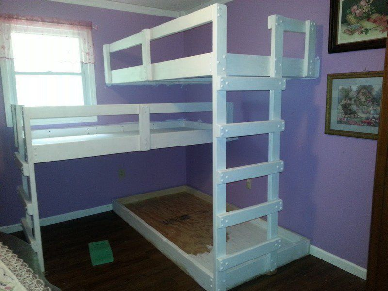 Diy Triple Bunk Bed The Owner Builder Network With Images