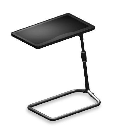 Swivel Bedroom Tray Table Adjustable Height Laptop Desk Organizer