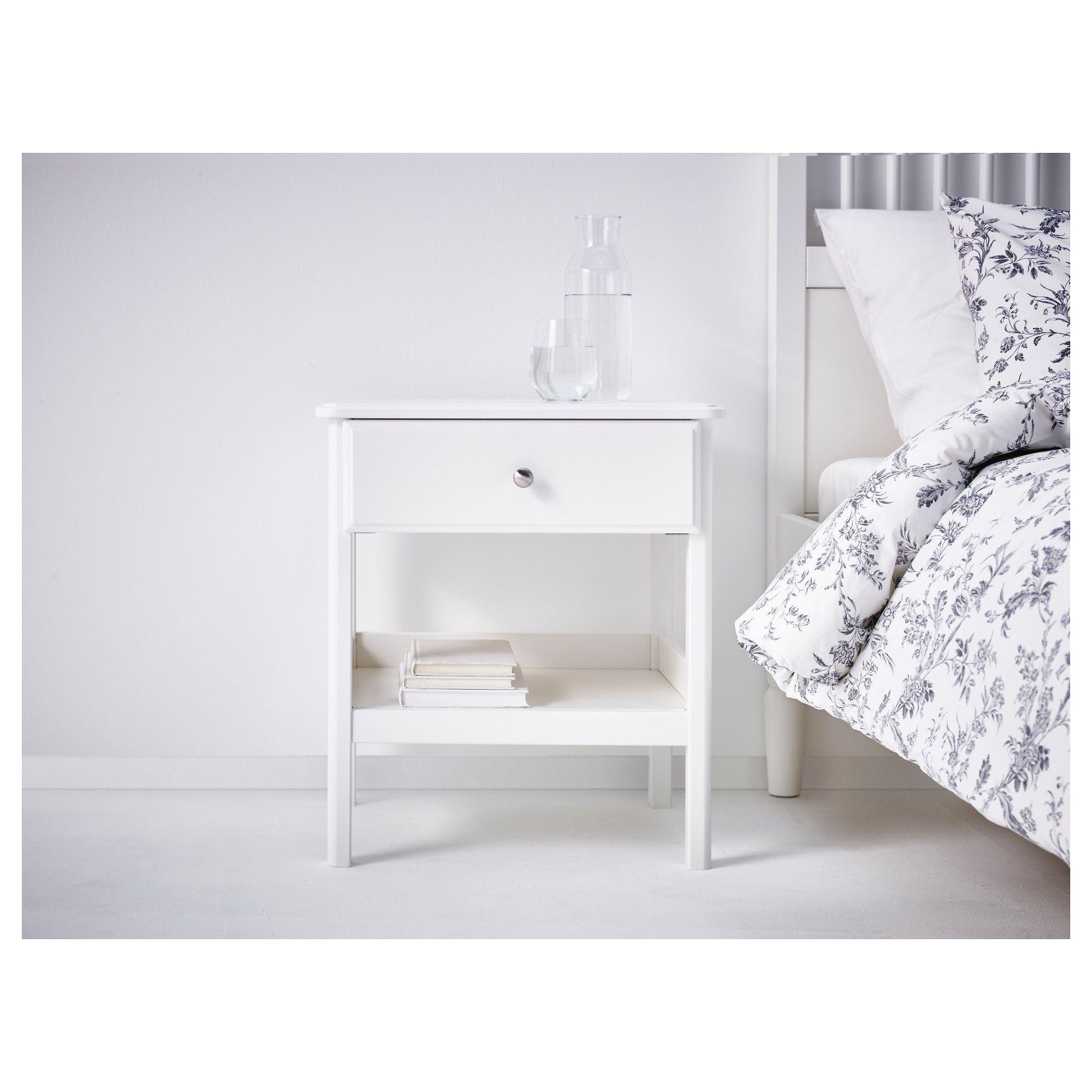 Tyssedal Bedside Table White Ikea In 2019 Bedside Table