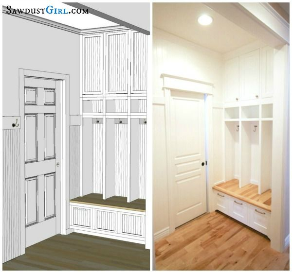 Built In Lockers Plan Actual Entry Ways And Mudrooms
