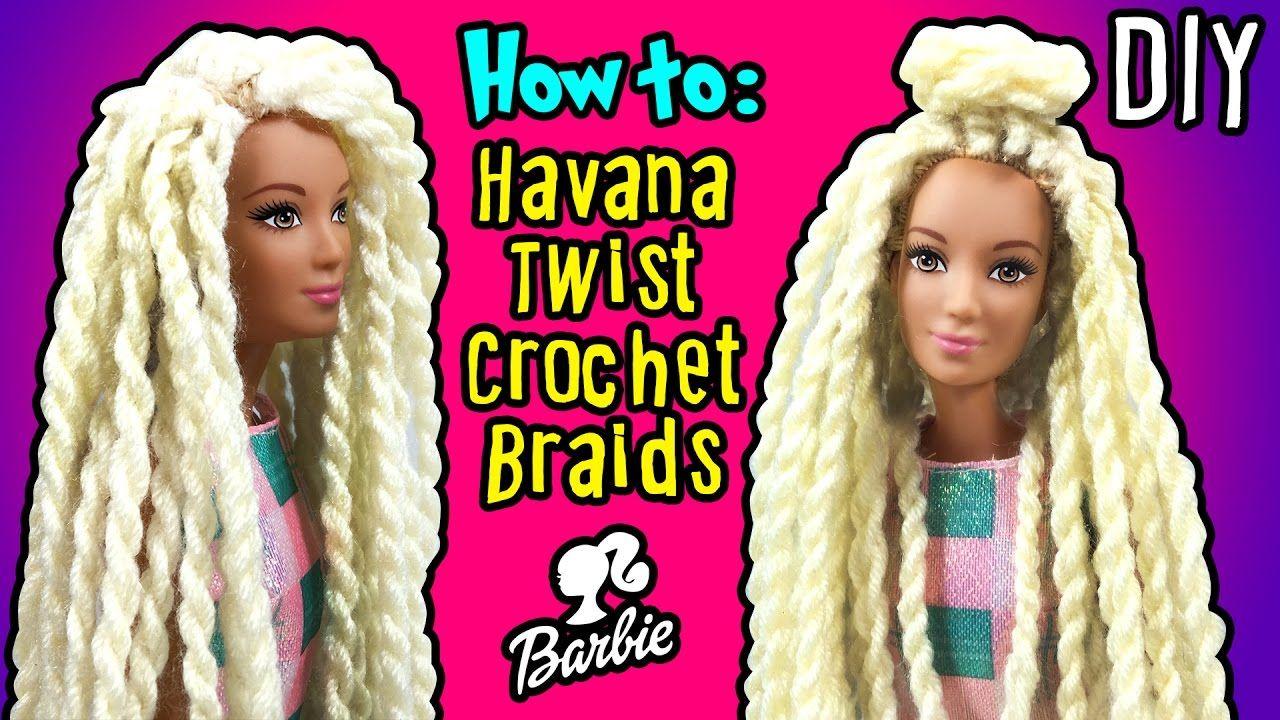 How To Make Havana Twist Crochet Braids Hair With Barbie Doll Diy Barb Dolls Clothes Diy Barbie Dolls Diy Barbie Hairstyle