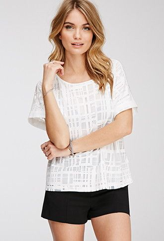 Burnout Geo Pattern Top | Forever 21 - 2049258101
