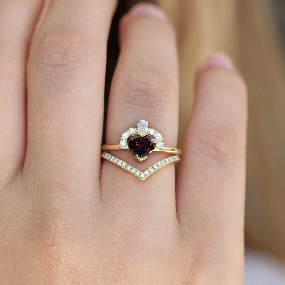 Chevron Diamond Ring Gold Chevron Band In 2018 Artemer Jewelry