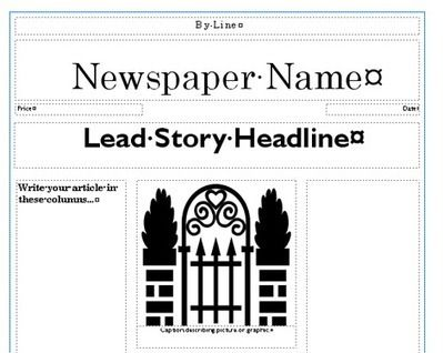 Newspaper Template Creating Newspapers In The Classroom Scoop