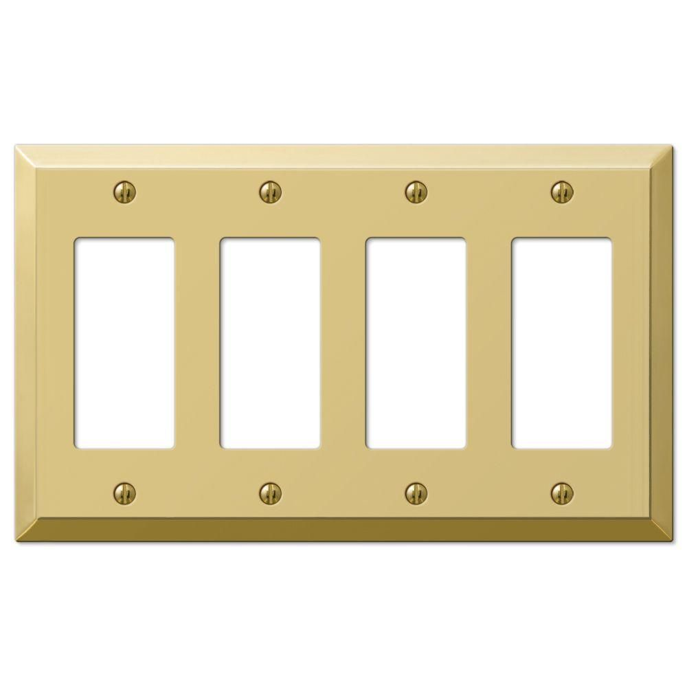 Century 4 Decorator Wall Plate - Polished Brass | Polished brass ...