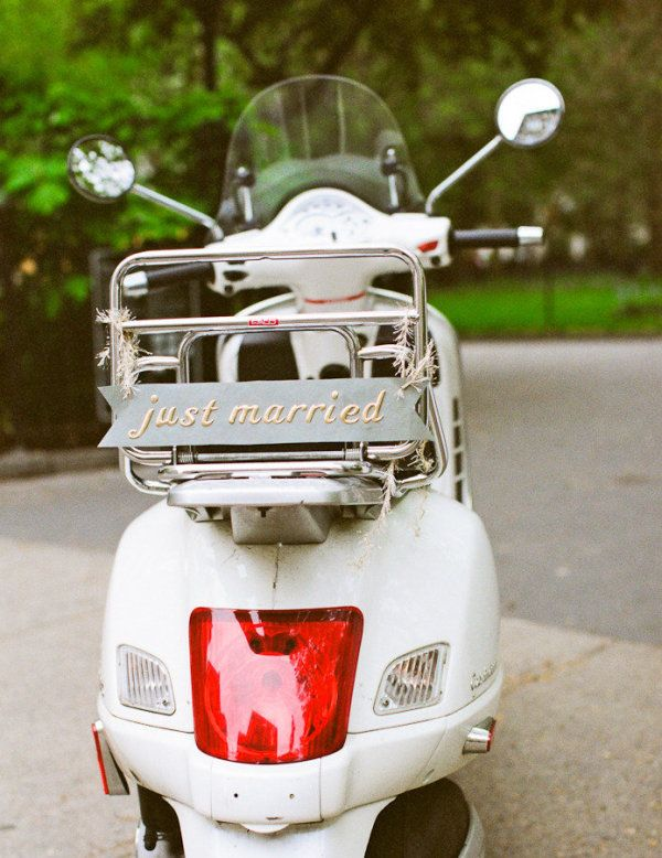 A Just Married Vespa !!!!
