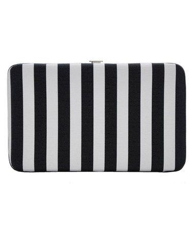 Another great find on #zulily! Black & White Stripe Clutch #zulilyfinds