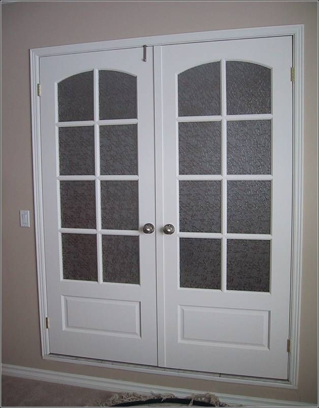 Prehung Interior French Doors With Frosted Glass Photo Door Design