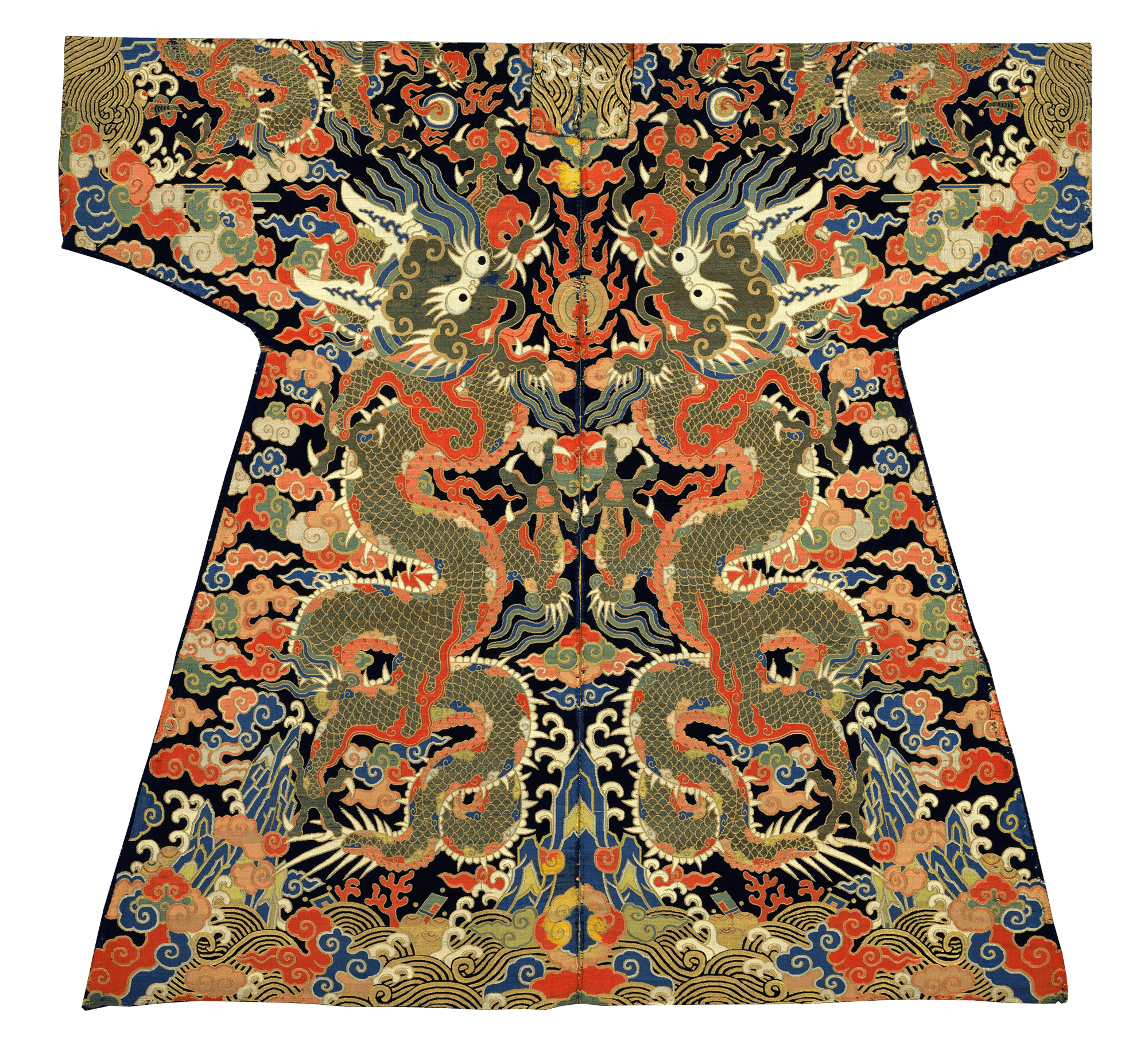 8959524f5 Velvet Textile for a Dragon Robe, 1700 — Qing Dynasty,   Things to ...