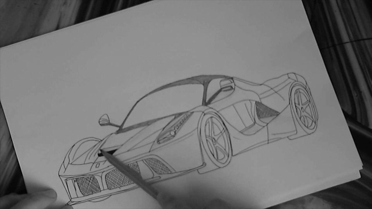 How to draw a Ferrari LaFerrari | Step by Step Drawing #ferrarilaferrari How to draw a Ferrari LaFerrari | Step by Step Drawing