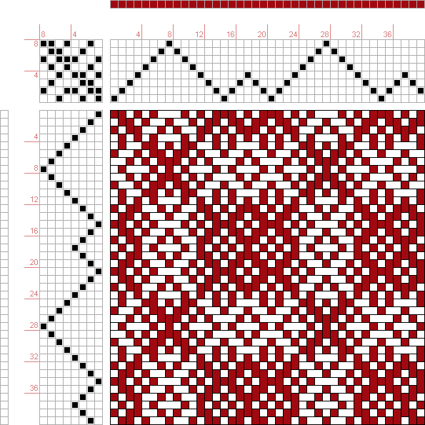 draft image: Threading Draft from Divisional Profile, Tieup: Classical Collection 2, Draft #3649, 8S, 8T