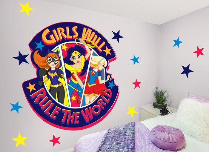 girl power! this inspiring wall decal reminds us all that girls will