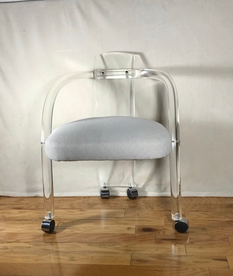 Mid Century Modern Charles Hollis Jones Style Lucite Armchair Etsy In 2020 Mid Century Modern Seating Century Modern Furniture Mid Century Modern