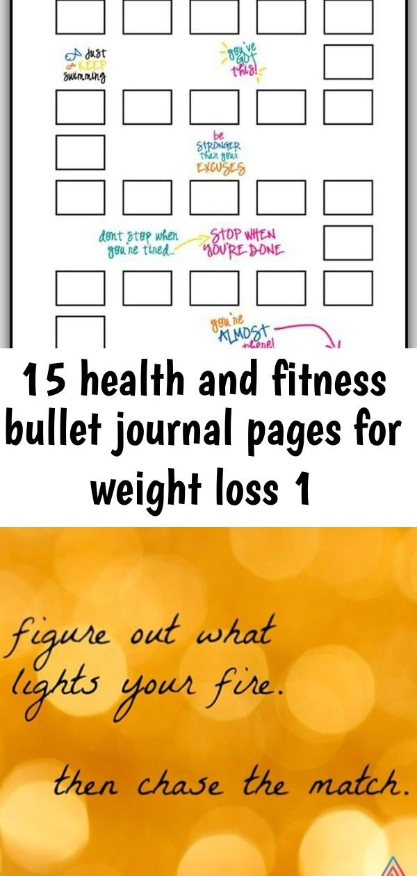 15 health and fitness bullet journal pages for weight loss 1