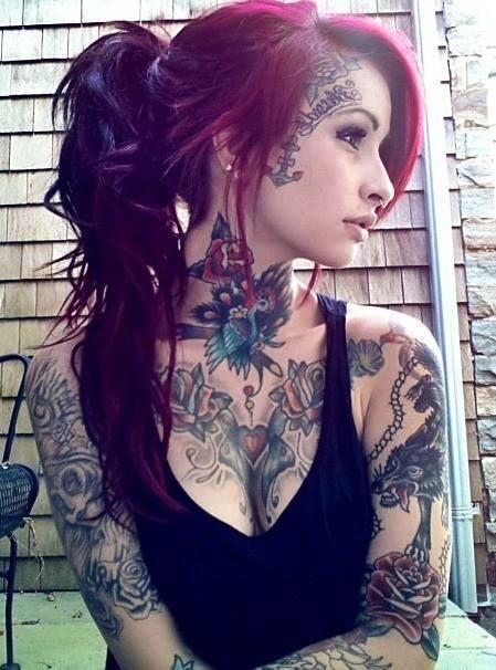 face tattoos sexy tattoos tattoo tattoos tattoo art girl tattoos anime women hot tattoo. Black Bedroom Furniture Sets. Home Design Ideas
