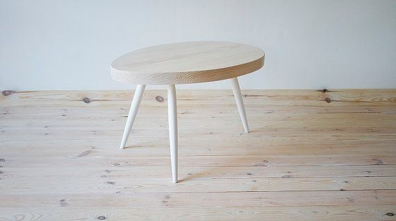 Table coffee table unique oval Scandinavian Style by ProjektDrewno