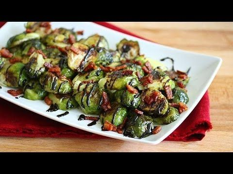 Recipes Brussel Sprouts : Oven Roasted Balsamic Brussels Sprouts #smashedbrusselsprouts