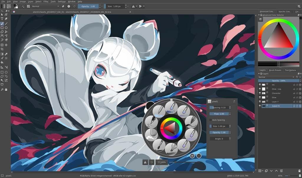 Krita Es Otro Programa Para Dibujar Muy Potente Y Ademas Es Gratis Programas Para Dibujar Diseno Grafico Steampunk Star Wars
