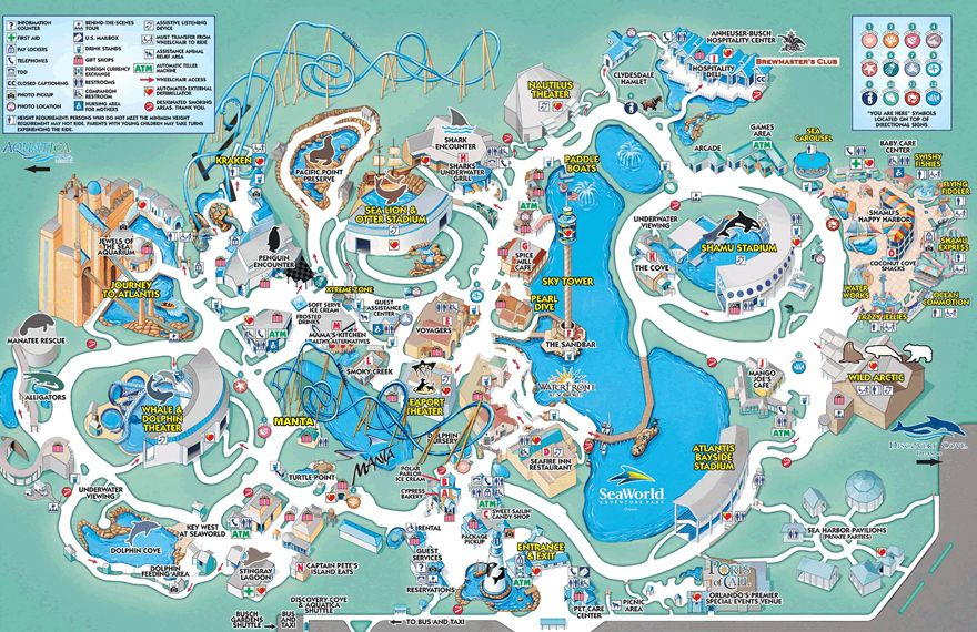 Step By Step Guide With 10 Stops Sea World Made Simple With Small Children Orlando Moms Blog Theme Park Map Seaworld Orlando Orlando Map