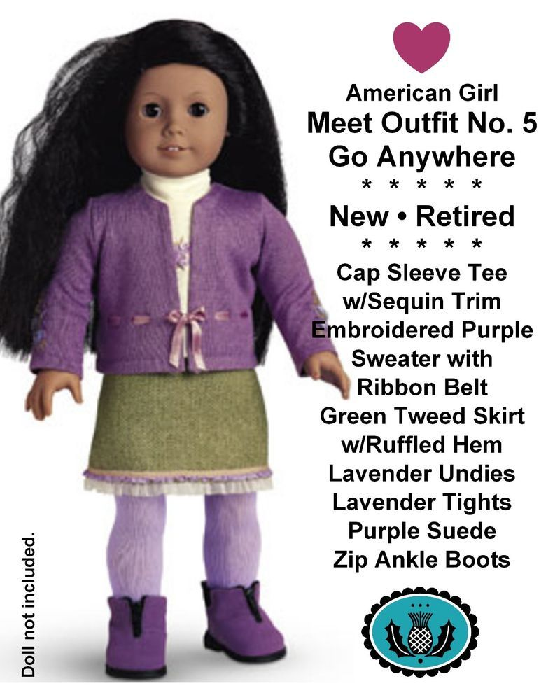 2010 American Girl Doll Lanie Garden Outfit Pants Shorts Capris ONLY Retired